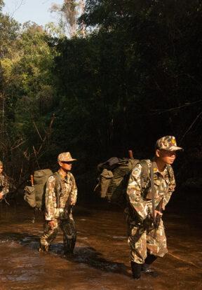 HKK WCS Thailand Ranger on patrol in Hua Kha Khaeng Wildlife Sanctuary in Thailand