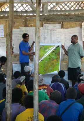 Land use planning workshop in Papua New Guinea