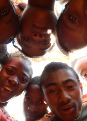 Team selfies in youth for lemurs project