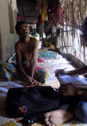 Tapan Piyada's scars remind him of the tiger attack that left him too scared to return to fishing for crabs along the shoreline. But there is hope he can rebuild a livelihood for his family through the project's poultry rearing activities