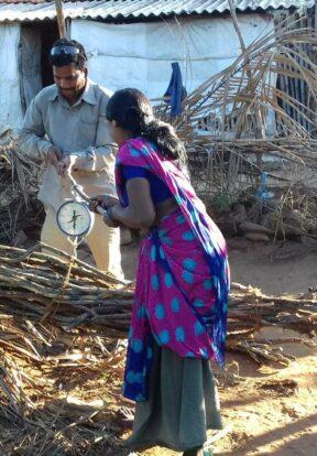Weighing firewood