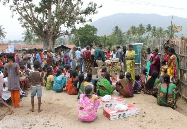 Information session in village