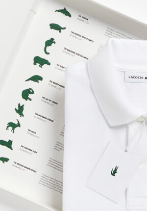 Lacoste Save Our Species Polo featuring Burmese Roofed Turtle