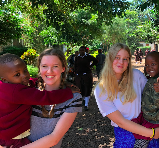 Meeting with the kindergarten children at Watu school in Tanzania