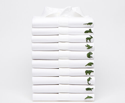 Lacoste Save Our Species Polo Pile. Credits: Lacoste