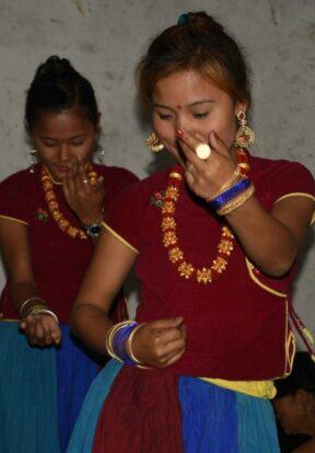 Traditional cultural activities at the Subarnapur village homestay, Nepal