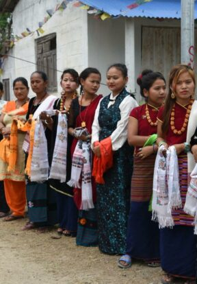 Villagers in Subarnapur, Nepal, welcome guests to their ecotourism initiative